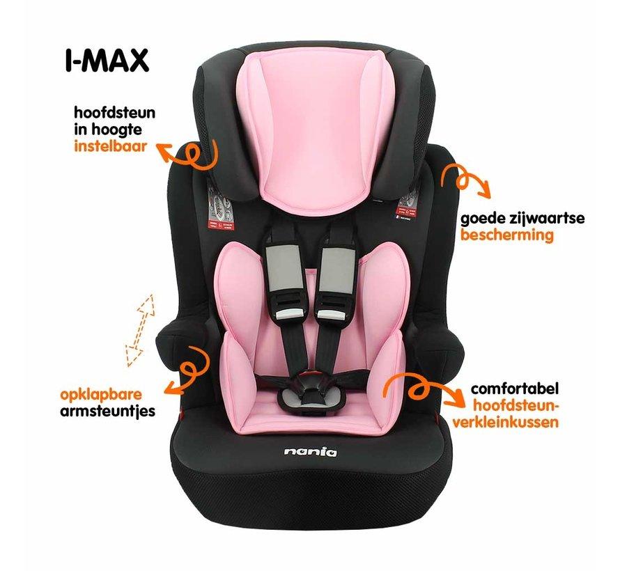 autostoel i-Max - Meegroei Autostoel Groep 1/2/3 - van 9 tot 36 kg - Access Pink