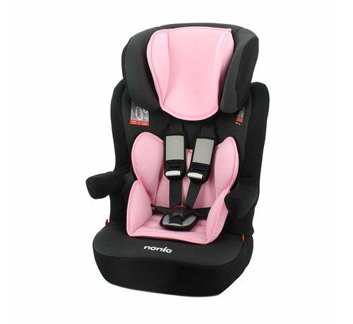 Nania autostoel i-Max - Meegroei Autostoel Groep 1/2/3 - van 9 tot 36 kg - Access Pink