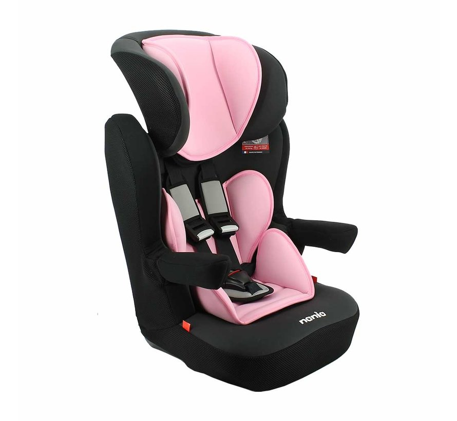 Highback booster i-Max - Group 1/2/3 - 9 to 36 KG - Access Pink