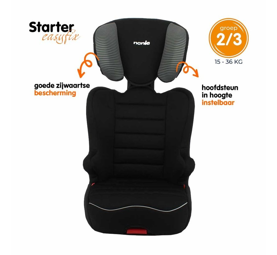 Starter Easyfix - Isofix car seat group 2 and 3 - Tech Grey