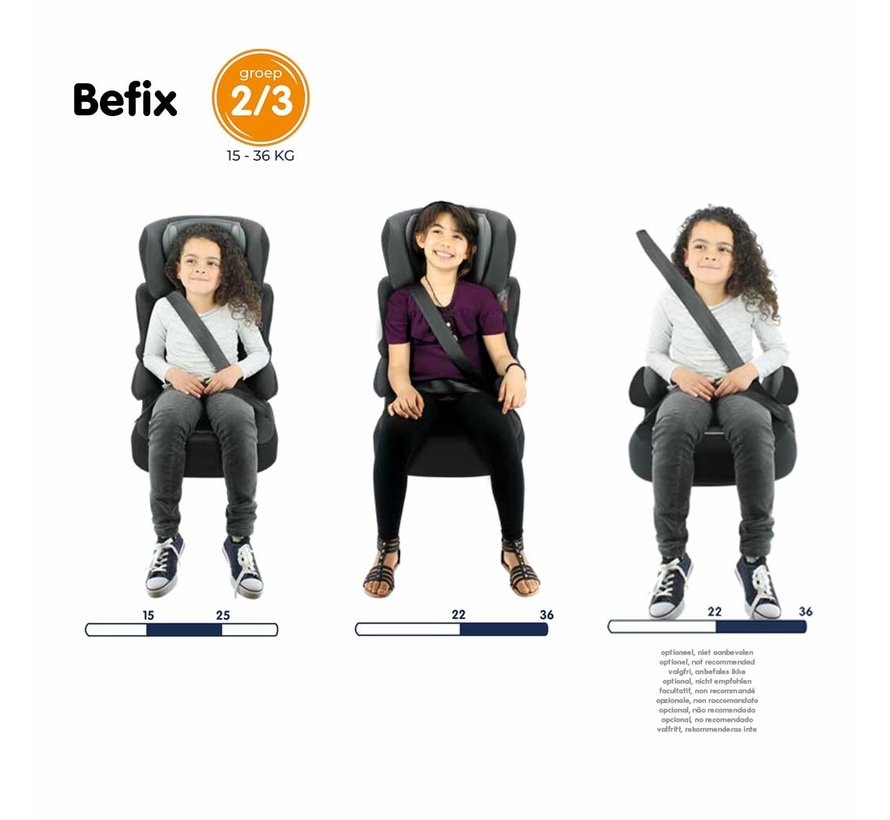 autostoel Befix - Kinderautostoel - groep 2 en 3 - Zwart
