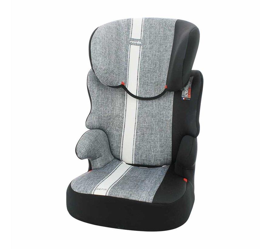 autostoel Befix Linea - groep 2 en 3 - 15 tot 36 kg - Grijs, Wit
