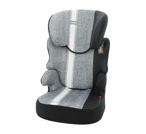 Nania Car seat Befix Linea - Group 2 and 3 - 15 to 36 Kg - Grey, White