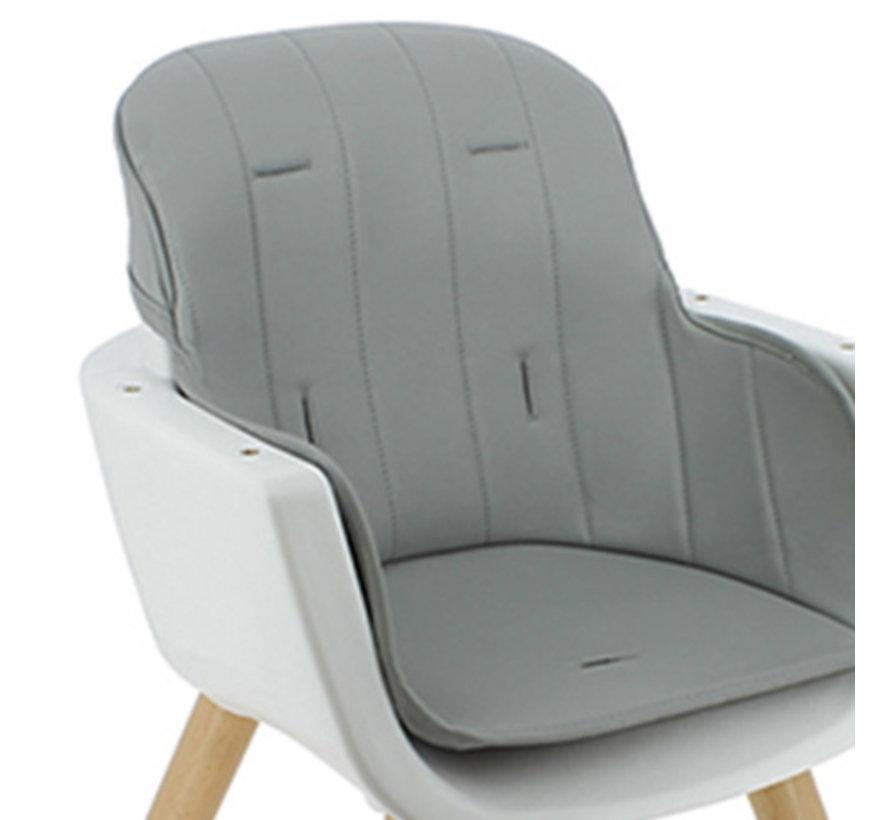 Luna Kinderstoel - 2 in 1 - meegroeistoel - Wit, Grijs - vanaf 6 maanden