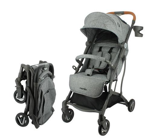 Nania Cassy - Kinderwagen - 6 tot 36 maanden - Licht en wendbaar - Grijs