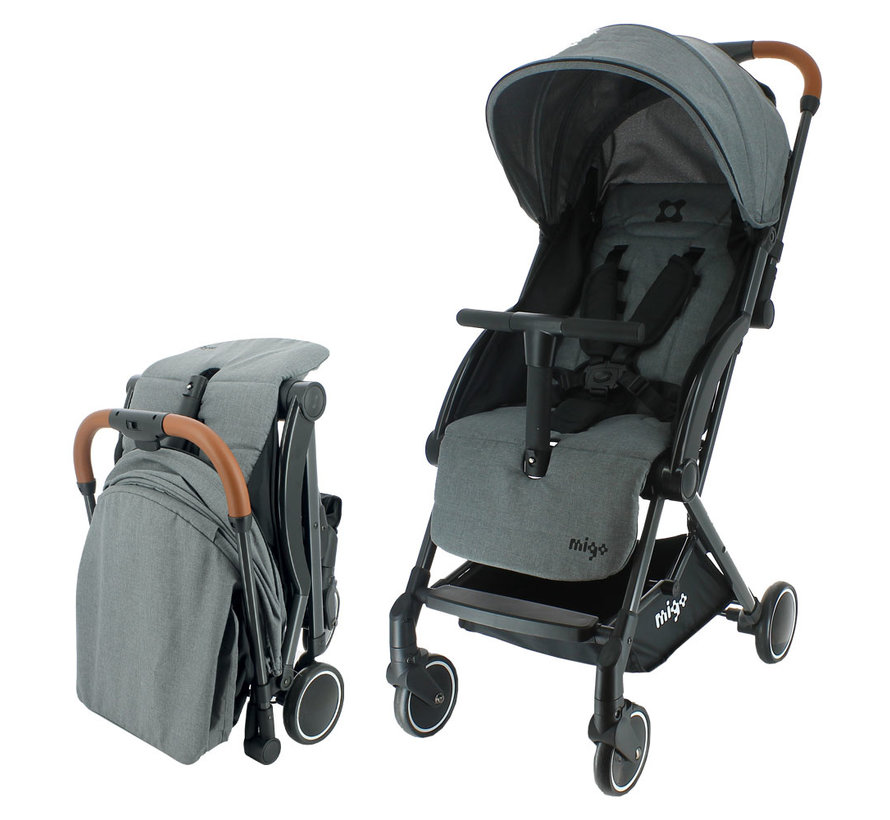 GAYA Kinderwagen - 0 bis 36 Monate - Leicht und wendig - Grau