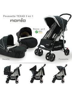 Nania Texas 2 in 1 Kinderwagen - Inclusief groep 0+ autostoel - Inclusief Reiswieg 0 tot 6 maanden