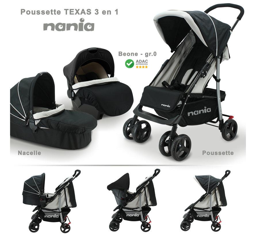 Texas 2 in 1 Kinderwagen - Inclusief groep 0+ autostoel - Inclusief Reiswieg 0 tot 6 maanden