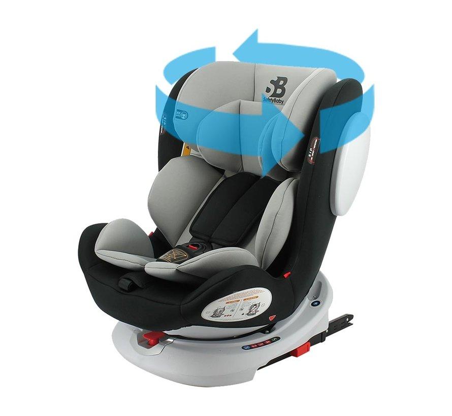 autostoel Seaty - 360 draaibaar - groep 0/1/2/3 (0-36Kg) - Grijs