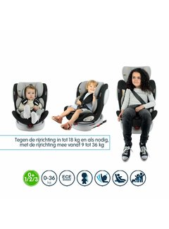 Safety Baby isofix autostoel Seaty - 360° draaibaar - groep 0/1/2/3 (!)