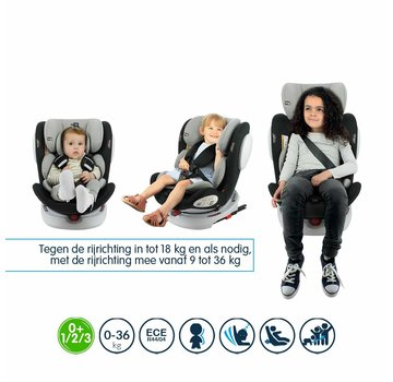 Safety Baby isofix car seat Seaty - 360° turnable - group 0/1/2/3 (!)