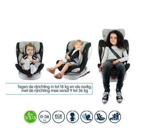 Safety Baby Car seat Seaty - 360 swivel - group 0/1/2/3 (0-36Kg) - Grey