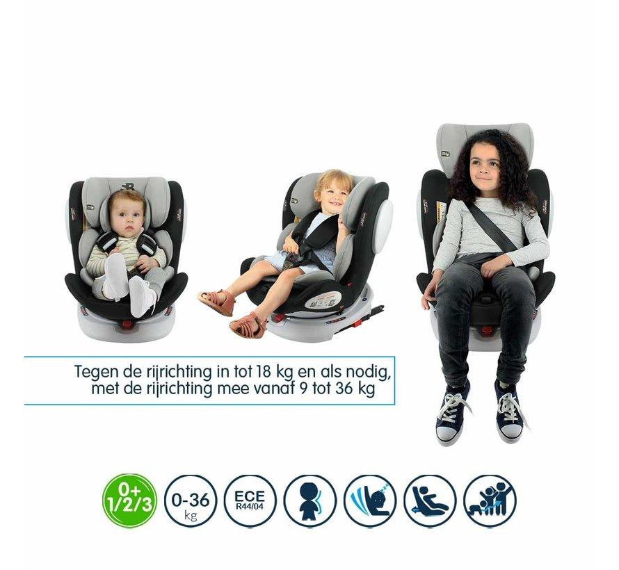 Car seat Seaty - 360 swivel - group 0/1/2/3 (0-36Kg) - Grey