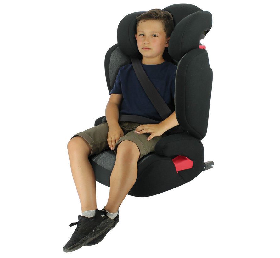 isofix autostoel Flash - groep 2/3  - van 15 tot 36 kg - Donkergrijs