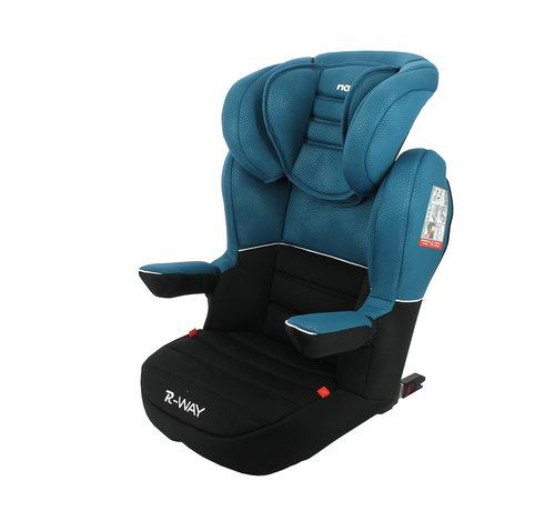 Nania R-Way LUXE - Isofix autositze Gruppe 2 und 3 - Grau, Blau, Rot
