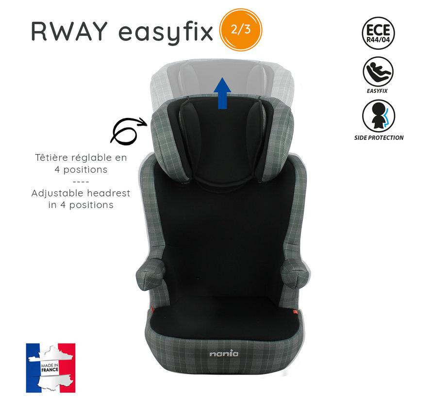 R-Way LONDON - Isofix autositze Gruppe 2 und 3 - Schwarz, Grau