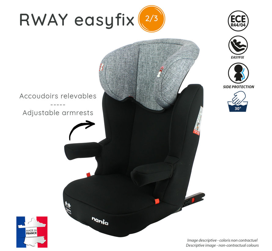 R-Way easyfix CHRONOS - Highback Isofix booster Group 2 and 3 - Black, Red