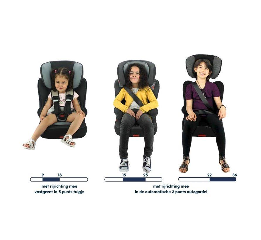 Racer ISOFIX Victoria - Meegroei autostoel Groep 1 2 3 - Van 9 tot 36 kg