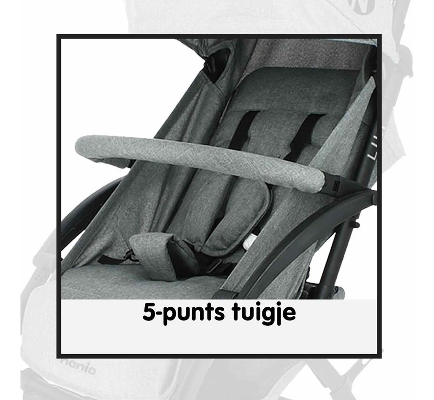 LILI - kompakter Kinderwagen - von 0 bis 36 Monaten - leicht und wendig