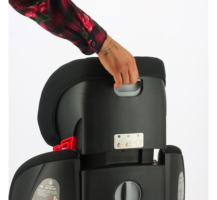 isofix autostoel Sydney - groep 2/3  - van 15 tot 36 kg  - Donkergrijs