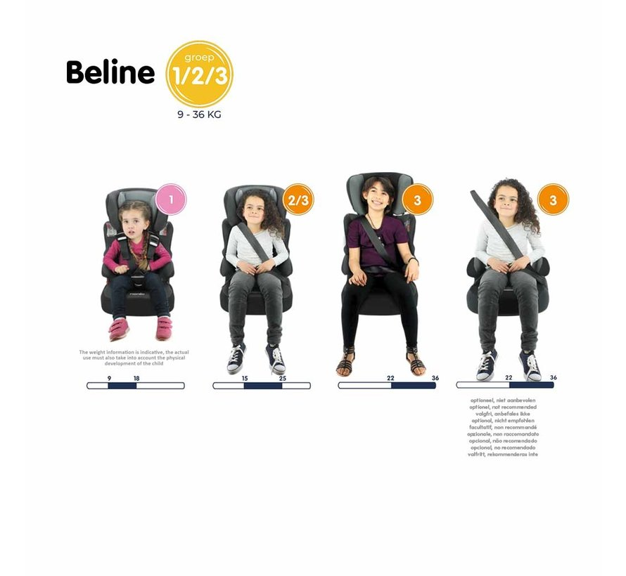 Beline Luxe - Highback booster Group 1 2 3 - From 9 to 36 kg