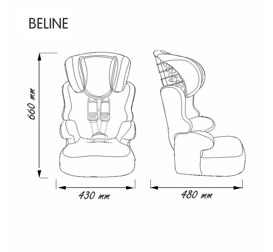 Beline Luxe - Meegroei Autostoel Groep 1/2/3 - Van 9 tot 36 KG
