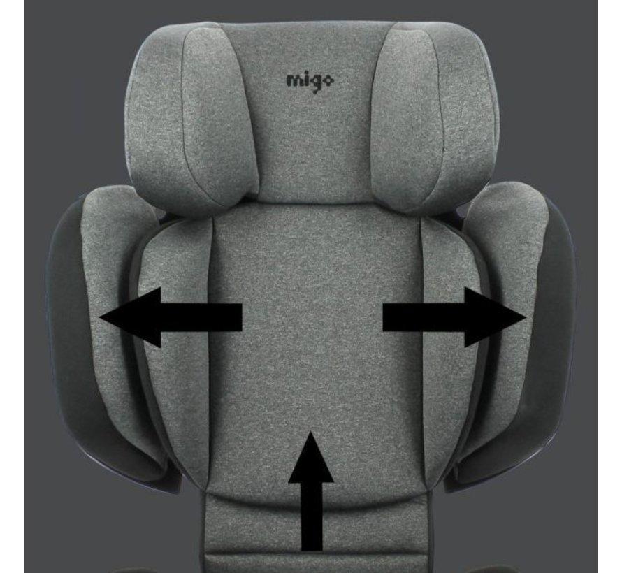 isofix autostoel Mirage - groep 2/3  - van 15 tot 36 kg  - Donkergrijs