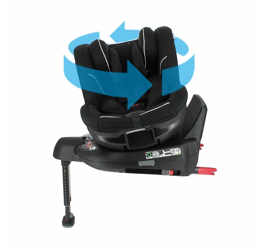 WONDER - i-Size car seat - from 0 to 4 years - Black