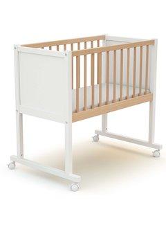 AT4 Wieg comfort - 40 x 80 cm - babybed - Wit en Beuken