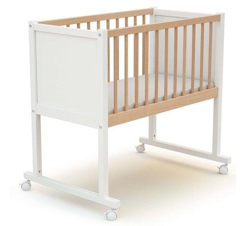 AT4 Wieg comfort - 40 x 80 cm - kinderbed - Wit en Beuken