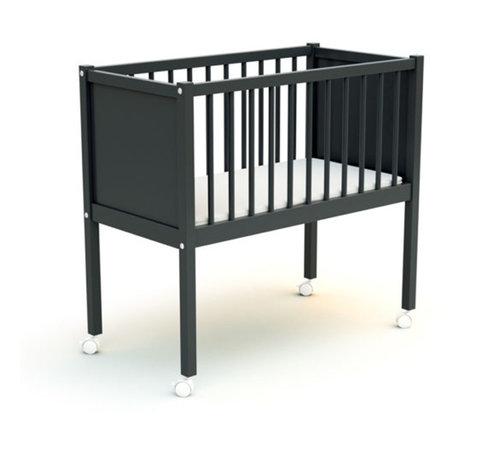 AT4 Wiege Komfort - 40 x 80 cm - Kinderbett - Dunkelgrau