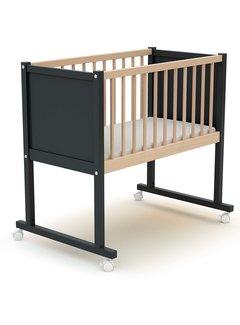AT4 Wieg comfort - 40 x 80 cm - babybed - Zwart en Beuken