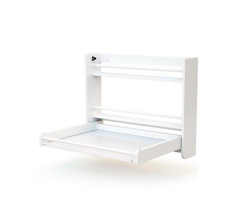 AT4 Wandkommode - Zusammenklappbar - Holz - Wandmontage - 83 x 18 x 69 cm - Weiß