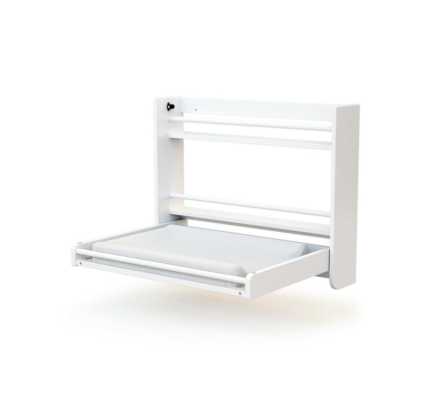 Wandcommode - Opklapbaar - Hout - Muurbevestiging - 83 x 18 x 69 cm - Wit