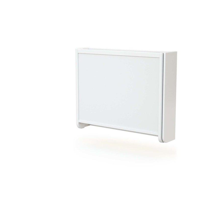 Wandkommode - Zusammenklappbar - Holz - Wandmontage - 83 x 18 x 69 cm - Weiß