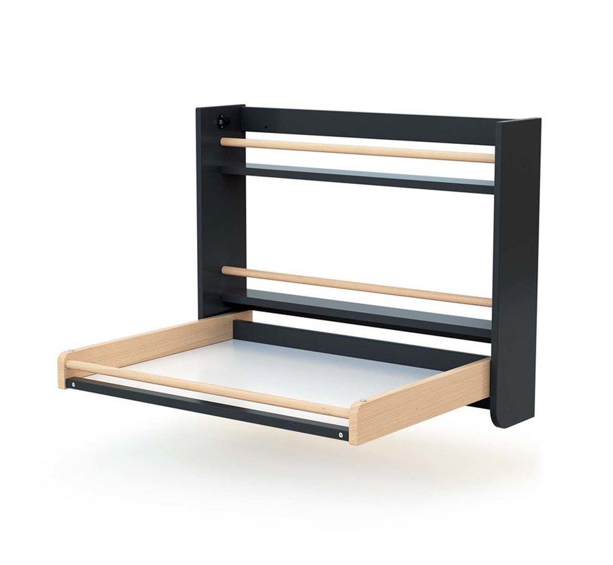 Wandkommode - Zusammenklappbar - Holz - Wandmontage - 83 x 18 x 69 cm - Graphit Buche