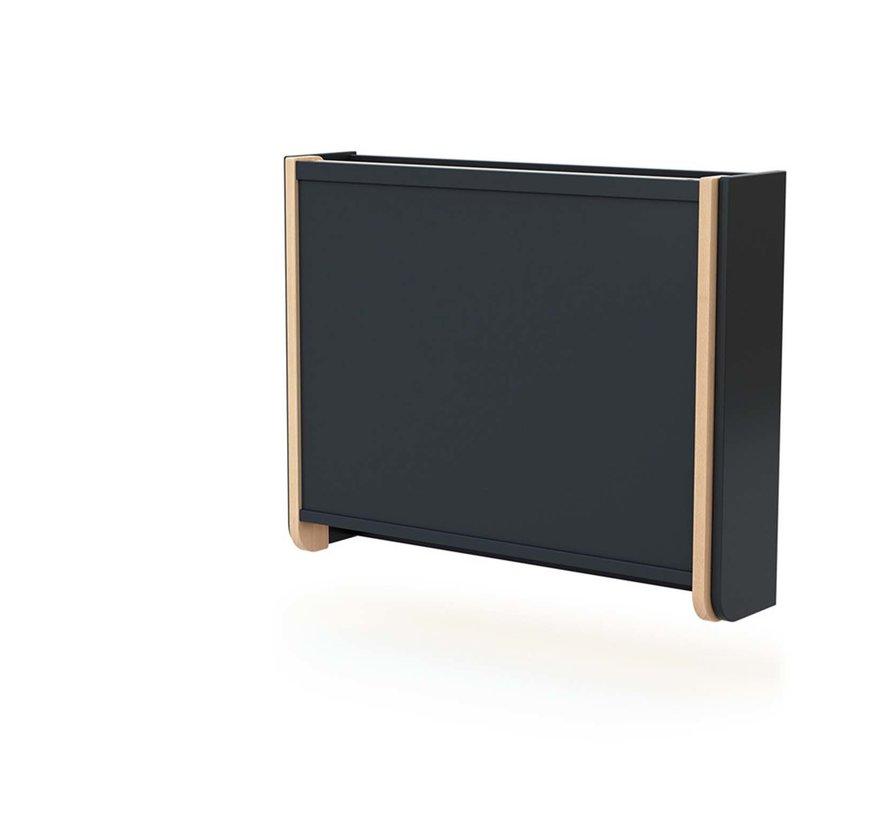 Wandcommode - Opklapbaar - Hout - Muurbevestiging - 83 x 18 x 69 cm - Grafiet Beuken