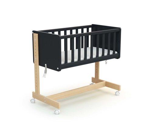 AT4 multifuntionele CoSleeper -  Baby wieg - Aanschuifbed - Ombouwbaar tot bureau of bank