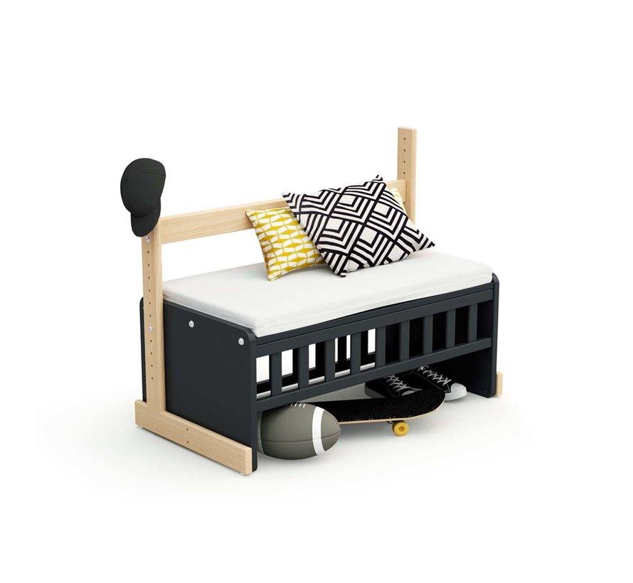 multifuntionele CoSleeper -  Baby wieg - Aanschuifbed - Ombouwbaar tot bureau of bank