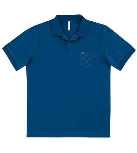 SUN68 Polo Pocket Print Avio