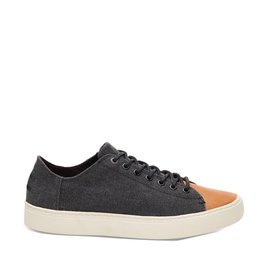 Toms Lenox Sneaker Leather Toe  Washed Canvas
