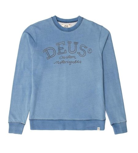 Deus Chalk Indigo Crew Light Indigo