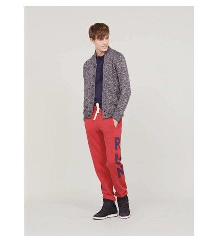 SUN68 Pant Sport Print Cotton Rosso