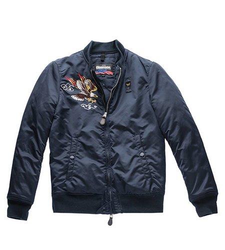 Blauer Princeton 1936 Bomber Jacket Blue