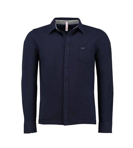 SUN68 Polo El. Shirt Opening 5 Navy Blue