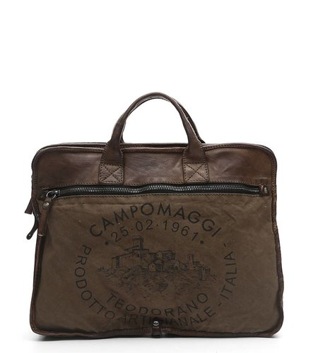 Campomaggi Professional bag with Teodorano print in Military Green