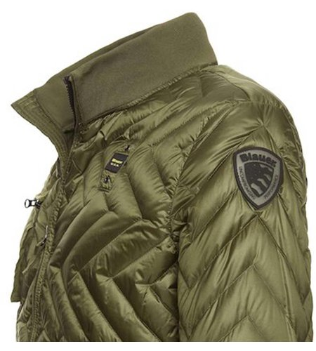 Blauer Nicolas Zig Zag Quilted Down Jacket Green Cliff