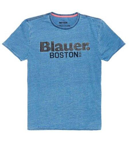Blauer Jersey T-shirt Boston 1936 Blue Thames