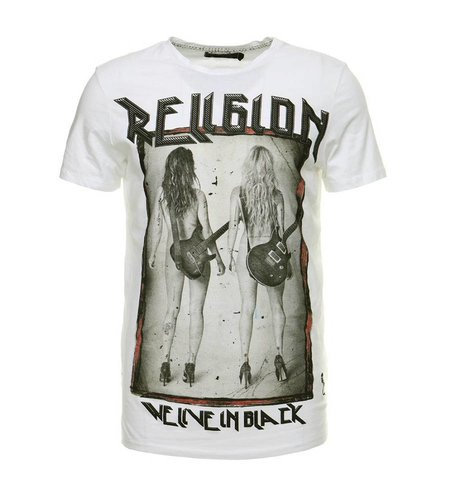 Religion Rock Star Tee White