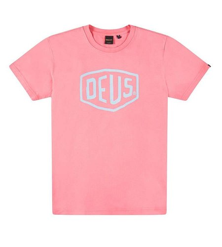 Deus Sun Bleached Shield Tee Raptura Rose